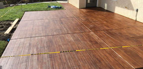 Stamped Concrete Wood Look