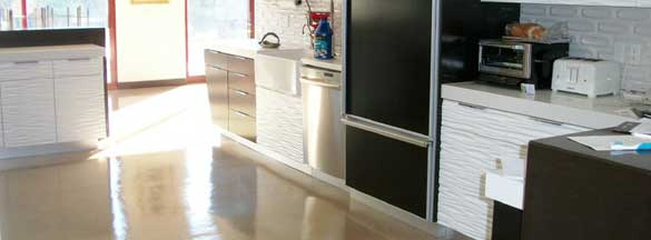 residential polished concrete floors