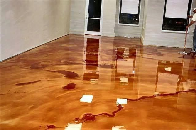 Learn How To Make Stunning Metallic Epoxy Floors